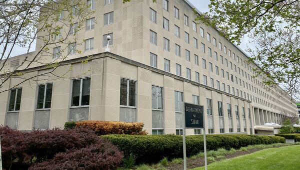 The Department of State building, is seen on April 20, 2020, in Washington, DC with very low activities amid the Coronavirus, COVID-19 pandemic.  - Sputnik International