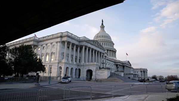 The view of the Nations Capitol as the Democrats and Republicans continue moving forward on the agreement of a coronavirus disease (COVID-19) aid package in Washington, D.C., U.S. December 21, 2020. - Sputnik International