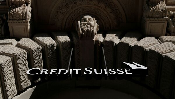 The logo of Swiss bank Credit Suisse is seen at its headquarters at the Paradeplatz square in Zurich, Switzerland October 1, 2019. - Sputnik International