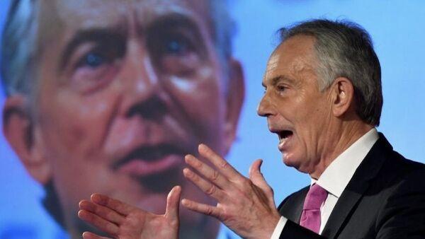 A photo of the UK former Prime Minister Tony Blair posted on Twitter on December 23, 2020 - Sputnik International