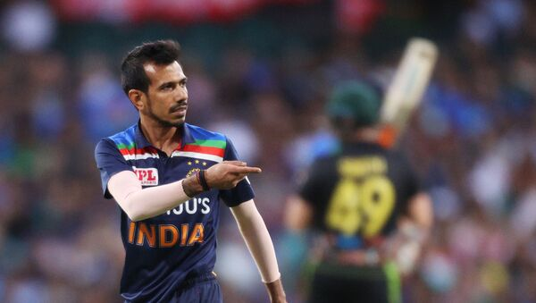Cricket - Third Twenty20 International - Australia v India - Sydney Cricket Ground, Sydney, Australia - December 8, 2020 India's Yuzvendra Chahal reacts - Sputnik International