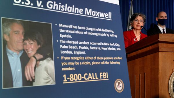 Charges  are announced against Ghislaine Maxwell for her role in the sexual exploitation and abuse of minor girls by Jeffrey Epstein in New York City, New York, U.S., July 2, 2020. - Sputnik International
