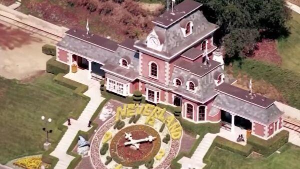 Screenshot image captures an aerial view of Michael Jackson's Neverland Ranch in Los Olivos, California. - Sputnik International
