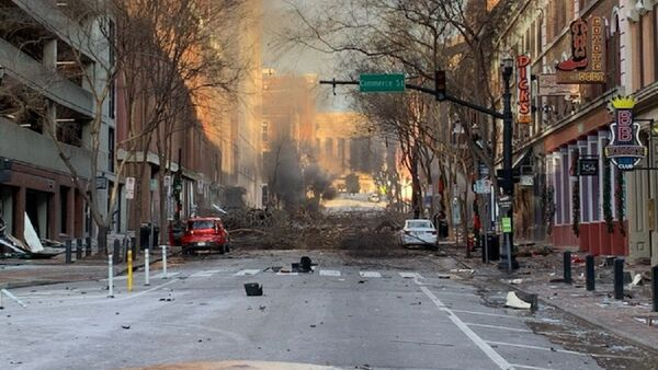 A photo of the consequences of the morning Nashville explosion in the US posted on Twitter, December 25, 2020 - Sputnik International