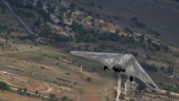 Tests of the Okhotnik combat unmanned aerial vehicle - Sputnik International
