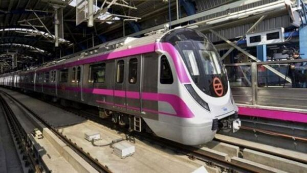 The first 'driverless' train will roll out on the 37-km long Magenta Line of the Delhi Metro - Sputnik International