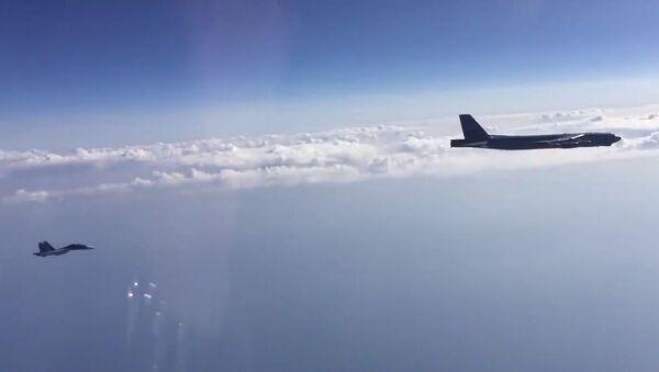 Interception of US Air Force B-52H bombers over the Black Sea - Sputnik International