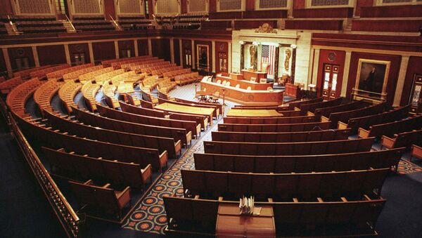 The Chamber of the House of Representatives is shown empty December 15. Beginning on Dec. 17, 1998. - Sputnik International