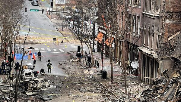 Blast site in Downtown Nashville - Sputnik International