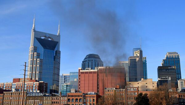 Smoke billows from the site of an explosion in the area of Second and Commerce in Nashville, Tennessee, U.S. December 25, 2020. - Sputnik International