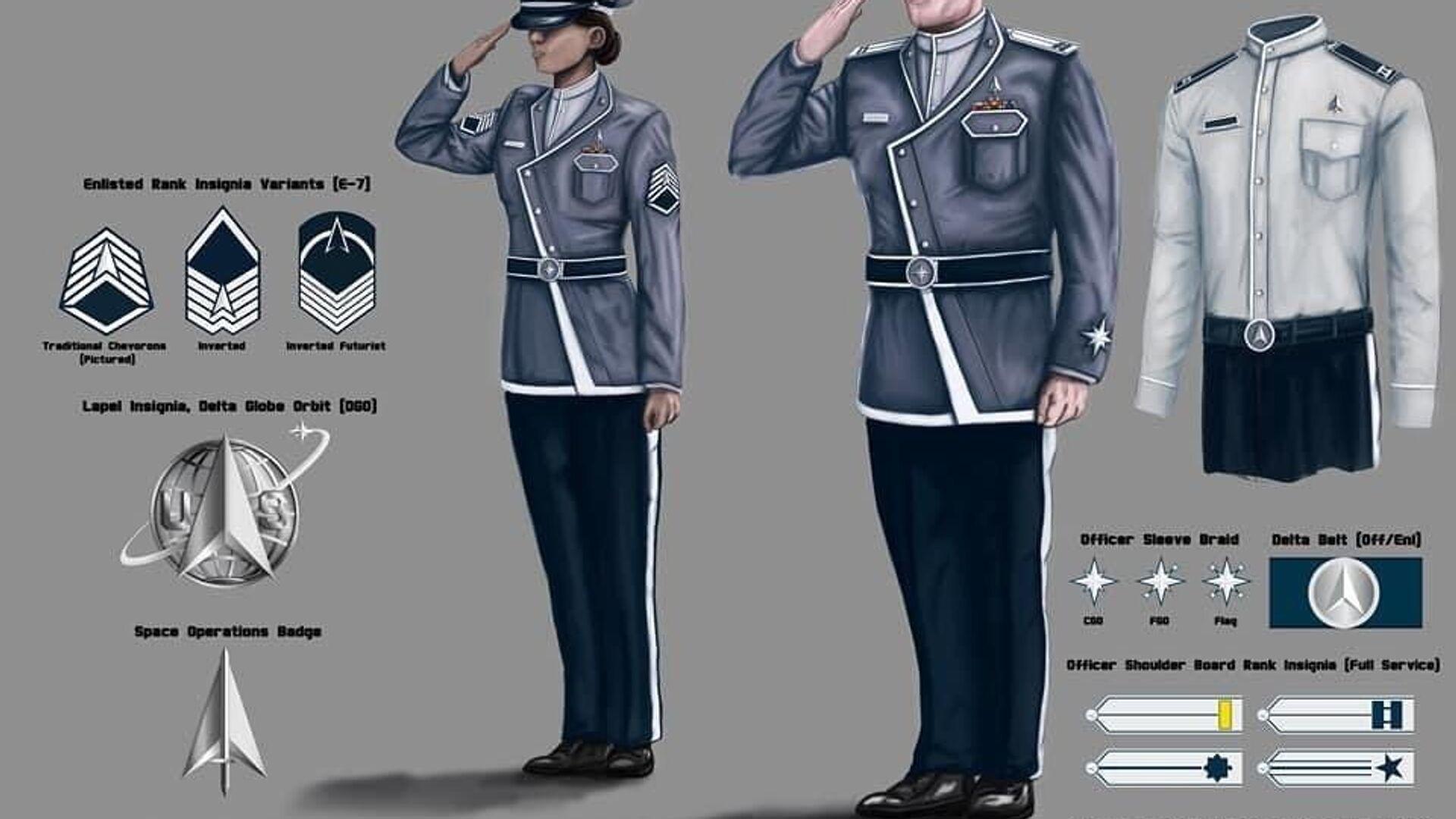 An unofficial concept art of uniform design for the United States Space Force - Sputnik International, 1920, 21.09.2021