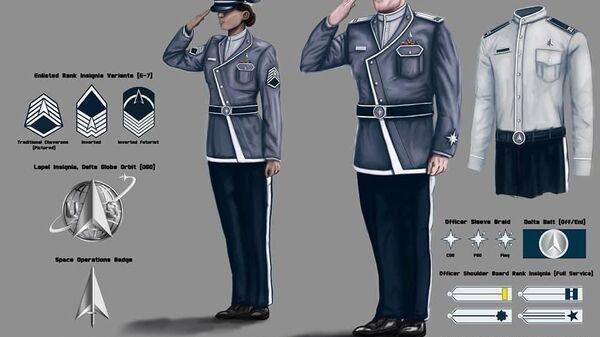 An unofficial concept art of uniform design for the United States Space Force - Sputnik International