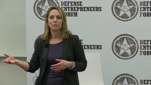 Dr. Kathleen Hicks, the senior vice president, Henry A. Kissinger Chair and director of the International Security Program at the Center for Strategic and International Studies (CSIS), speaking at the Defense Entrepreneurs Forum in May 2016 - Sputnik International
