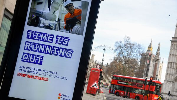 A British government informational poster is seen on a bus stop, amid the coronavirus disease (COVID-19) pandemic, in London, Britain, December 30 2020 - Sputnik International