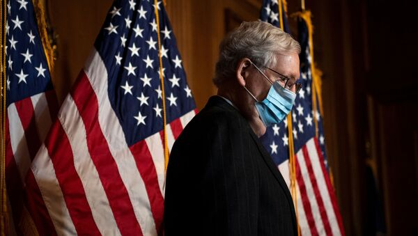 Senate Majority Leader Mitch McConnell (R-KY) conducts a news conference in the U.S. Capitol after the Senate Republican Policy luncheon in Washington, U.S., December 15, 2020.  - Sputnik International