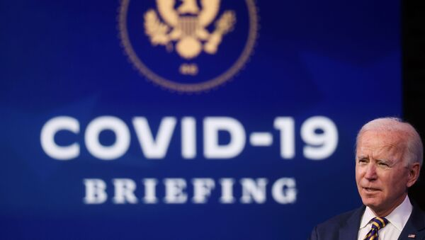 U.S. President-elect Joe Biden delivers remarks on the US response to the coronavirus disease (COVID-19) outbreak, at his transition headquarters in Wilmington, Delaware. - Sputnik International