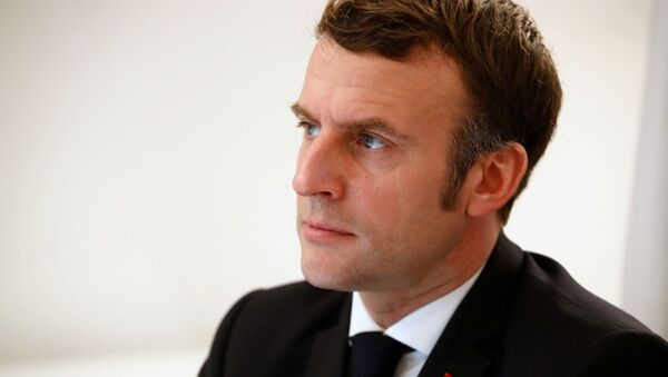 French President Emmanuel Macron attends an EU-China video-conference meeting along with Chinese President Xi Jinping, German Chancellor Angela Merkel, European Commission President Ursula von der Leyen and President of the European Council Charles Michel, at the Fort de Bregancon in Bormes-les-Mimosas, France, 30 December 2020.  - Sputnik International