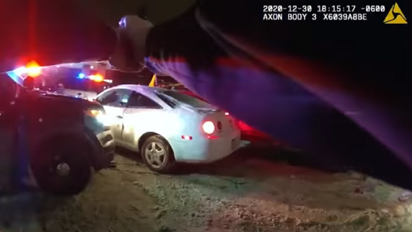 A screenshot of body camera footage worn by officers involved in the shooting of a suspect, identified as 23-year-old man, Dolal Idd, in Minneapolis, Minnesota, on 30 December, 2020. - Sputnik International
