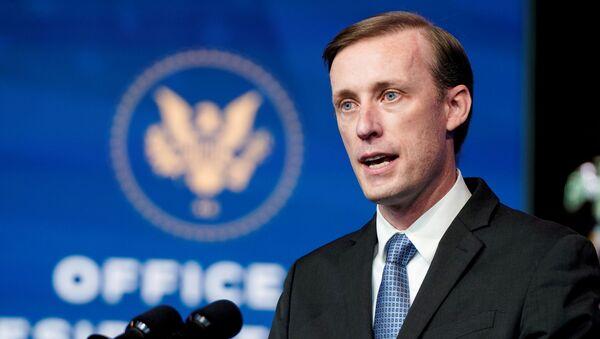Jake Sullivan, U.S. President-elect Joe Biden's choice to be his national security adviser, speaks in Wilmington, Delaware, U.S., November 24, 2020 - Sputnik International