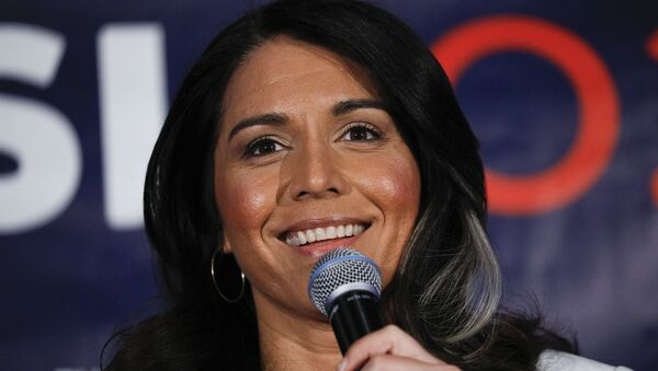 Democratic presidential candidate U.S. Representative Tulsi Gabbard (D-HI) holds a Town Hall meeting on Super Tuesday Primary night on March 3, 2020 in Detroit, Michigan. - Sputnik International