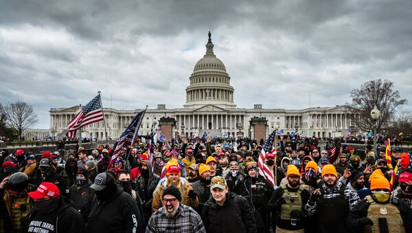 WASHINGTON, DC - JANUARY 06: Pro-Trump protesters gather in front of the U.S. Capitol Building on January 6, 2021 in Washington, DC. A pro-Trump mob stormed the Capitol, breaking windows and clashing with police officers. - Sputnik International
