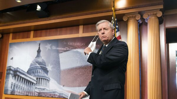Sen. Lindsey Graham, R-S.C., speaks to reporters during a news conference at the Capitol, Thursday, Jan. 7, 2021, in Washington - Sputnik International