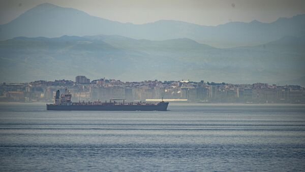 A view of the vessel the Clavel sailing on international waters crossing the Gibraltar stretch on Wednesday, 20 May 2020 - Sputnik International