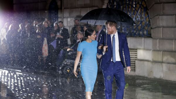 Britain's Prince Harry and Meghan, the Duke and Duchess of Sussex arrive at the annual Endeavour Fund Awards in London, Thursday, March 5, 2020. - Sputnik International