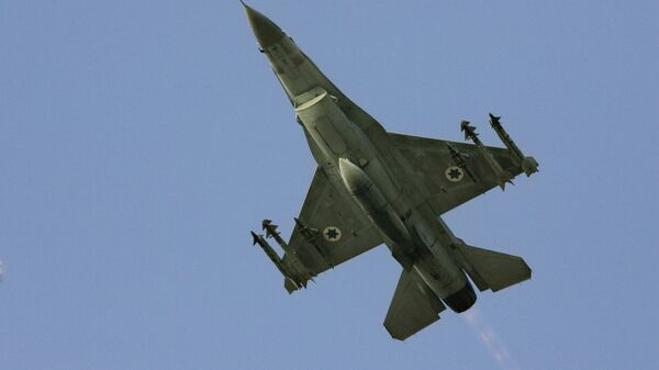 In this Sunday, July 16, 2006 file photo, an Israeli F-16 warplane takes off to a mission in Lebanon from an air force base in northern Israel. - Sputnik International