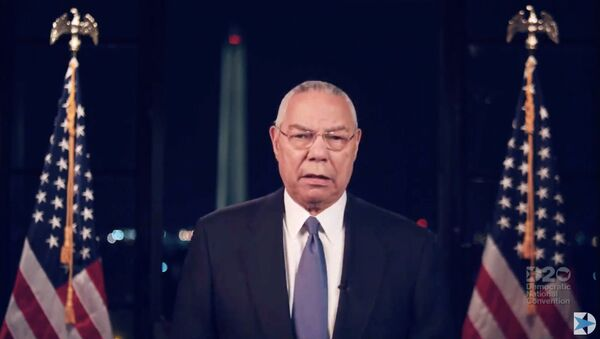 This video grab made on August 18, 2020 from the online broadcast of the Democratic National Convention, being held virtually amid the novel coronavirus pandemic, shows Former Secretary of State Colin Powell speaking during the second day of the convention. - Sputnik International