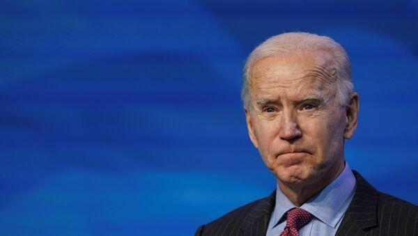 U.S. President-elect Joe Biden speaks as he announces members of economics and jobs team at his transition headquarters in Wilmington, Delaware - Sputnik International