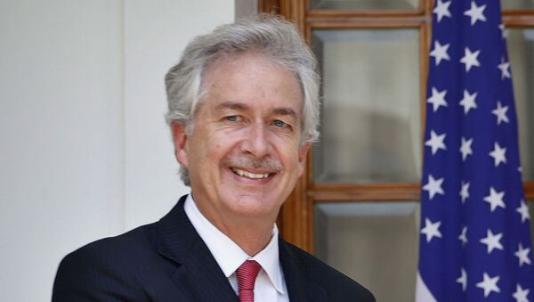 In this July 10, 2014 file photo, then U.S. Deputy Secretary of State William Burns, is shown in New Delhi, India.  President-elect Joe Biden has chosen veteran diplomat William Burns to be his CIA director. Biden made the announcement on Monday.  - Sputnik International
