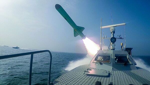 In this photo released Tuesday, July 28, 2020, by Sepahnews, a Revolutionary Guard's speed boat fires a missile during a military exercise - Sputnik International