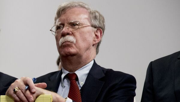National Security Adviser John Bolton attends a meeting with President Donald Trump as he meets with Indian Prime Minister Narendra Modi at the G-7 summit in Biarritz, France, Monday, Aug. 26, 2019 - Sputnik International