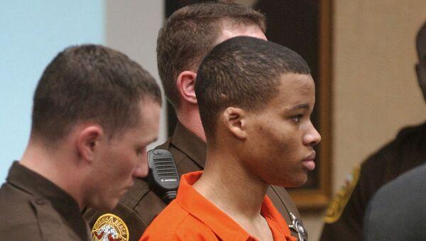 Lee Boyd Malvo, who was convicted of the Washington Sniper murders, in court in 2003. - Sputnik International