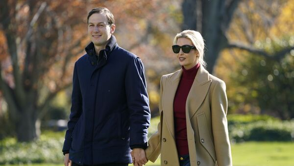 President Donald Trump's White House Senior Adviser Jared Kushner and Ivanka Trump, the daughter of President Trump, walk on the South Lawn of the White House in Washington, Sunday, Nov. 29, 2020, after stepping off Marine One after returning from Camp David - Sputnik International