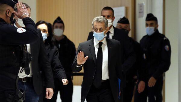 Former French President Nicolas Sarkozy arrives at the courtroom Monday, Dec. 7, 2020 in Paris - Sputnik International