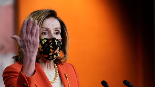 US House Speaker Nancy Pelosi (D-CA) attends her weekly news conference at the US Capitol in in Washington, DC, 15 January 2021 - Sputnik International