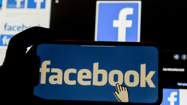 FILE PHOTO: Facebook logos - Sputnik International
