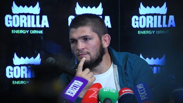 Russian UFC Champion Khabib Nurmagomedov at a press conference - Sputnik International