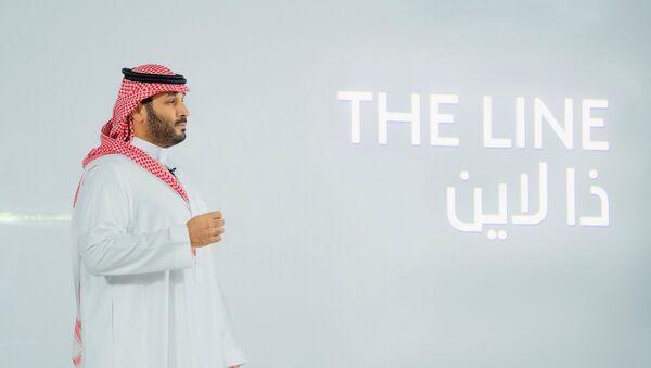 Saudi Crown Prince Mohammed Bin Salman announces a zero-carbon city called The Line to be built at NEOM in northwestern Saudi Arabia, January 10, 2021. - Sputnik International