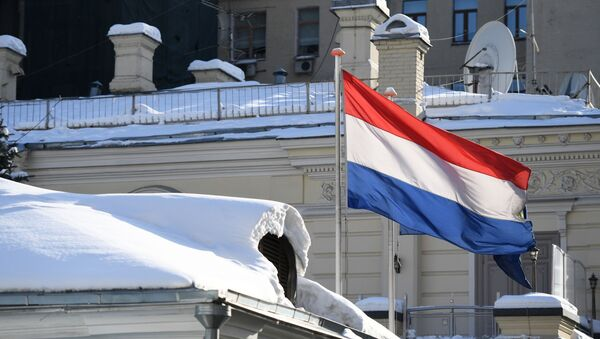 National flag of the Netherlands on the Dutch Embassy in Moscow - Sputnik International