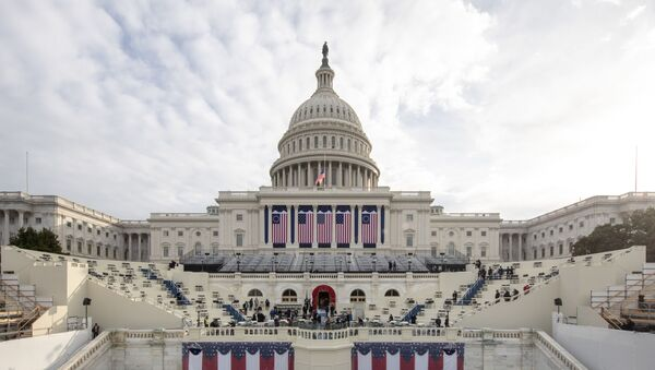 Preparations are made prior to a dress rehearsal ahead of the 59th Inaugural Ceremonies on the West Front at the U.S. Capitol on January 18, 2021 in Washington, DC - Sputnik International
