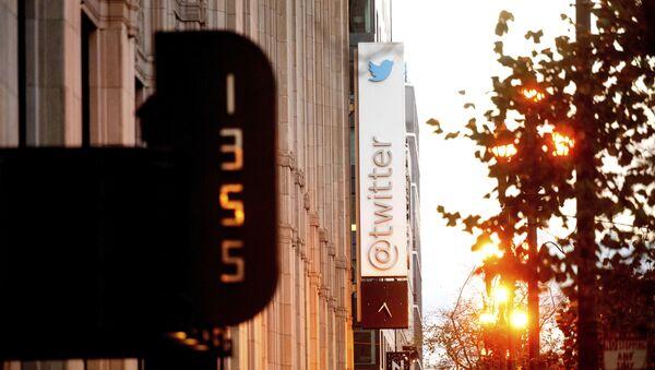 A sign hangs at Twitter headquarters on Monday, Jan. 11, 2021, in San Francisco. - Sputnik International