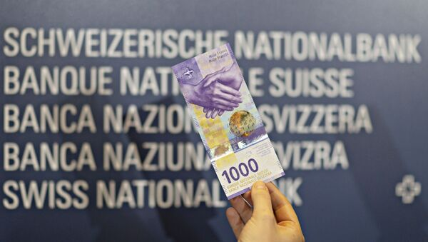 An image of the new 1000 Swiss franc note shown during a press conference on 5 March 2019 in Zurich. - Sputnik International
