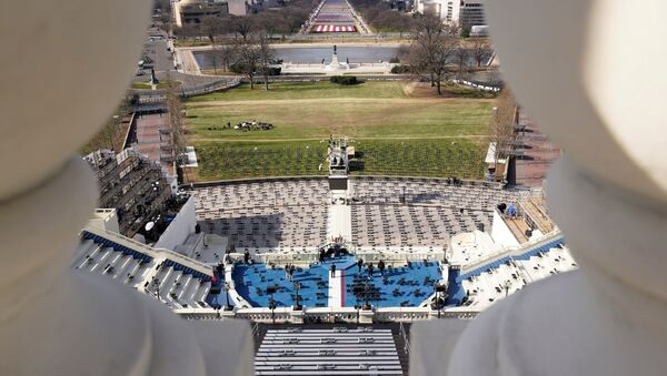 FILE PHOTO: A view of the stage ahead of the 59th Presidential Inauguration on Capitol Hill in Washington, DC, US January 19, 2021 - Sputnik International