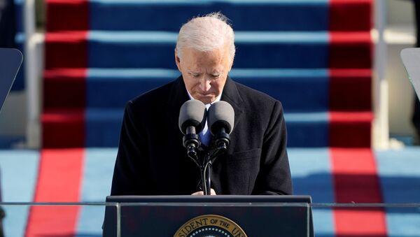 U.S. President Joe Biden speaks during the 59th Presidential Inauguration at the U.S. Capitol in Washington January 20, 2021. - Sputnik International