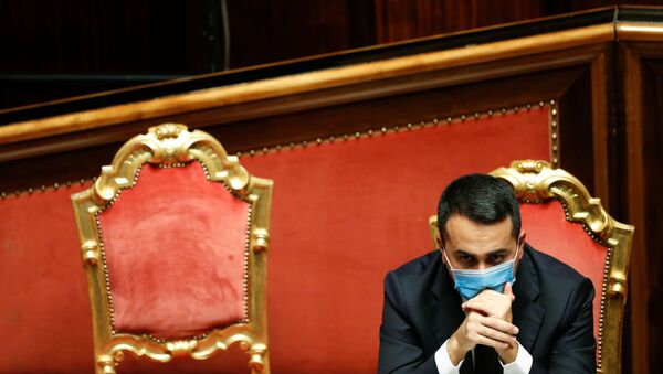 Italian Foreign Minister Luigi Di Maio attends a debate ahead of a confidence vote at the upper house of parliament after former Prime Minister Matteo Renzi pulled his party out of government, in Rome, Italy, January 19, 2021.  - Sputnik International