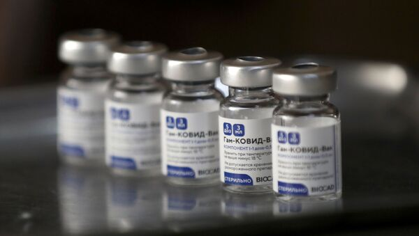 Empty vials of the Sputnik V (Gam-COVID-Vac) vaccine are pictured at the San Martin hospital, in La Plata, on the outskirts of Buenos Aires, Argentina January 18, 2021 - Sputnik International