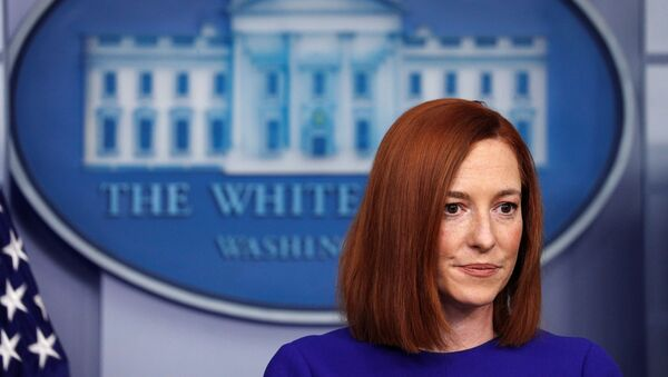 White House Press Secretary Jen Psaki speaks in the James S Brady Press Briefing Room at the White House, after the inauguration of Joe Biden as the 46th President of the United States, U.S., January 20, 2021. - Sputnik International